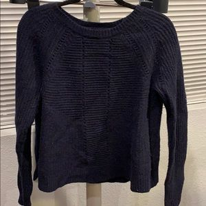 J.Crew Navy wool and cotton sweater